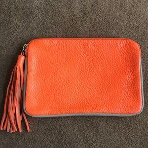 Handbags - Neon Orange 🍊 small tassels clutch